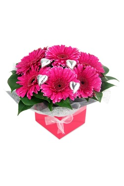 Gerbera and Chocolate Box