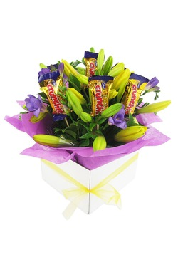 mix of lilies and freesia's