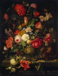 Baroque flower arrangement