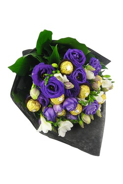 lisianthus and delicate scented freesias