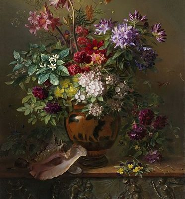 Still Life with Flowers in a Greek Vase, Irina,