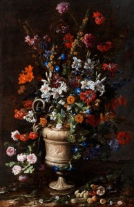 American colonial flower arrangement