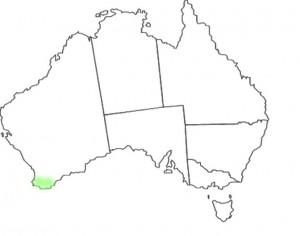 Caladenia brownii map