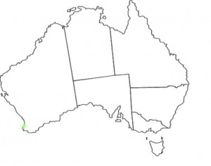 Caladenia caesarea map
