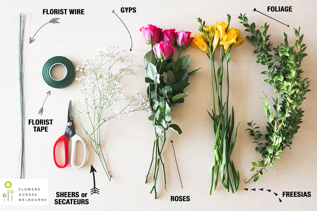 Diy How To Make A Flower Crown Flowers Across Melbourne