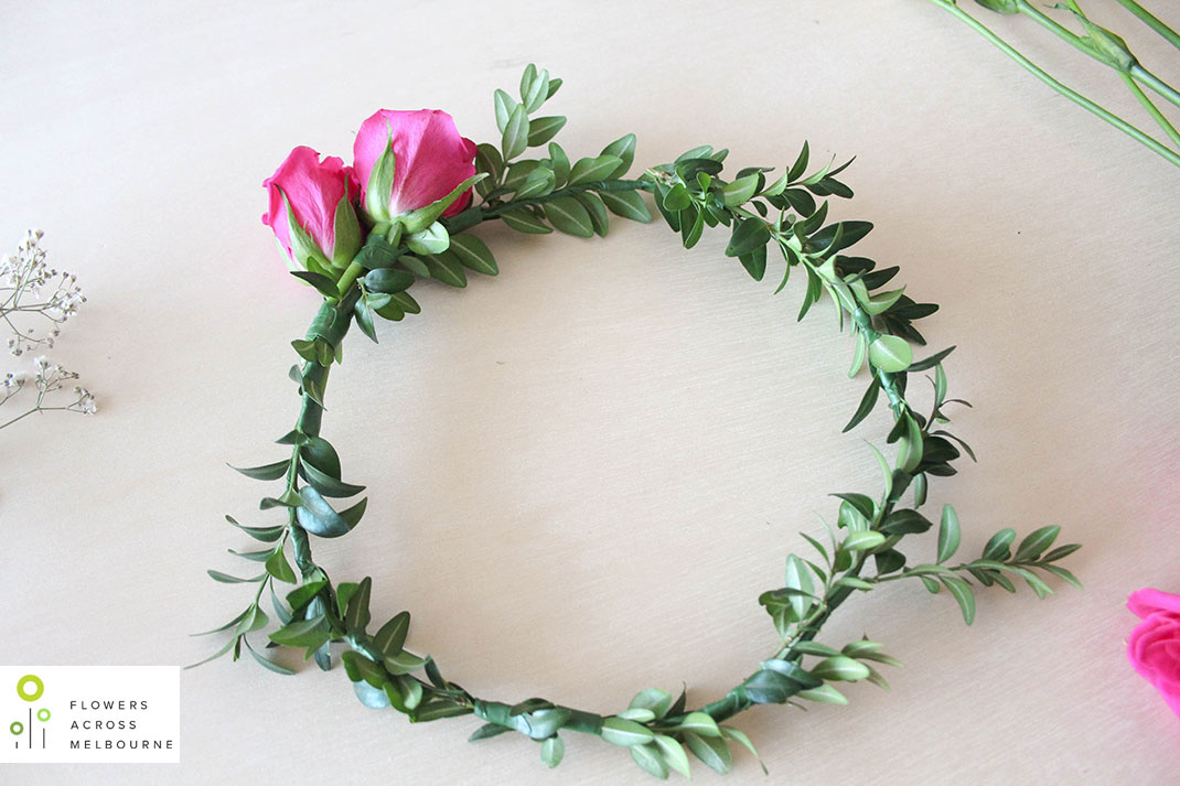 DIY how to make a flower crown