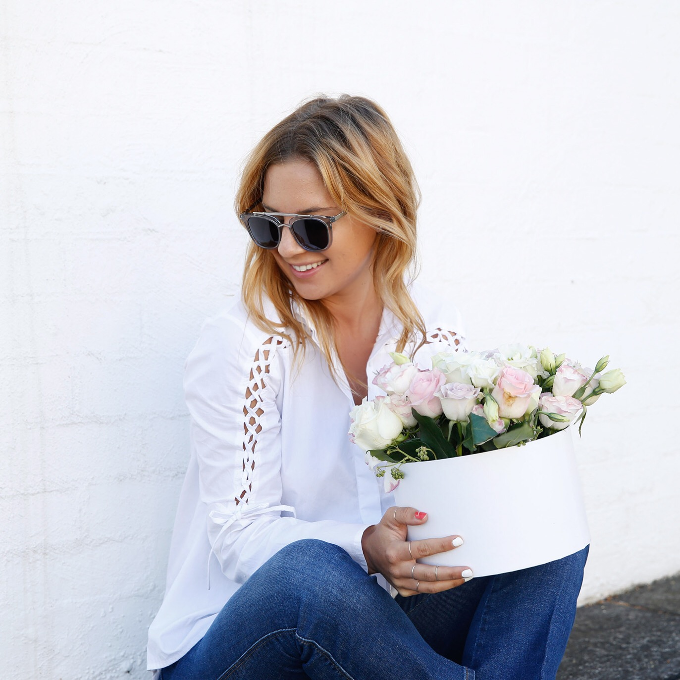 Lisa Hamilton - See Want Shop Blogger with Flowers Across Melbourne
