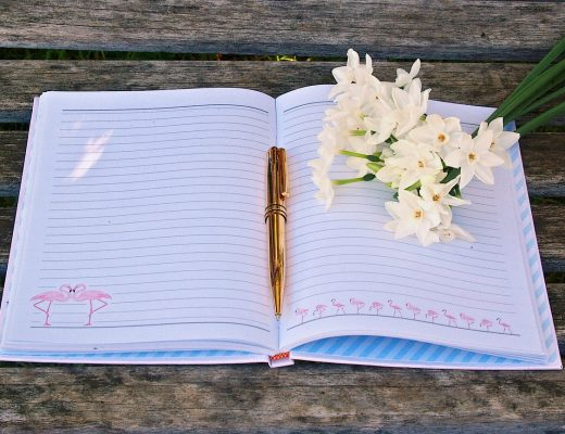Floristry training notebook