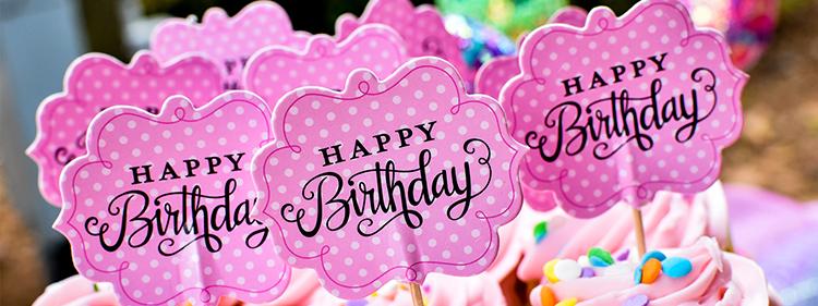 Happy Birthday Cards on Cupcakes